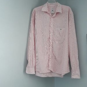 Lacoste Modern Fit Pin Stripped Button Down Shirt